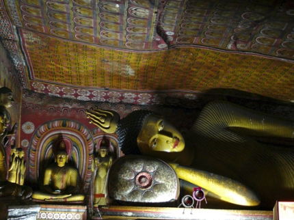 Visiting the Dambulla Buddha